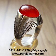 انگشتر قدیمی عقیق تراش دار a215