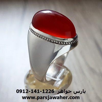 انگشتر دست ساز نقره مردانه a216