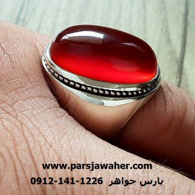 انگشتر مردانه رکاب نقره دست ساز f206