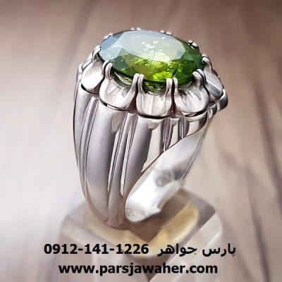 انگشتر زبرجد نقره مردانه 228
