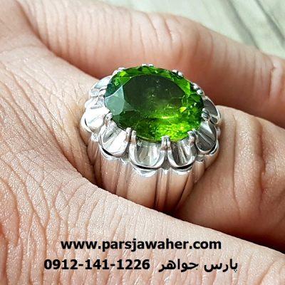 انگشتر زبرجد مردانه دست ساز 228