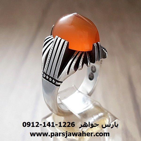 انگشتر عقیق پرتقالی یمنی a218