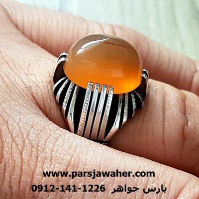 انگشتر رکاب دست ساز نقره چهار چنگ a218