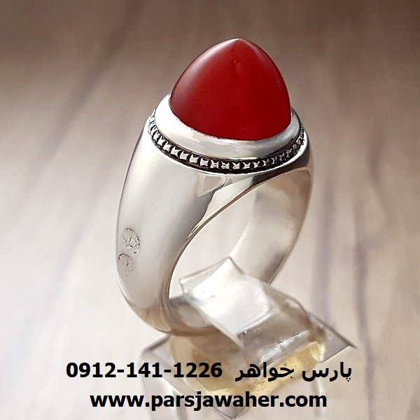 انگشتر مردانه عقیق یمنی a220