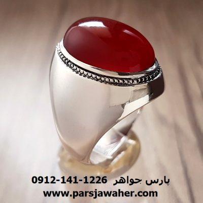 انگشتر قدیمی عقیق یمنی محمد سعادت f208