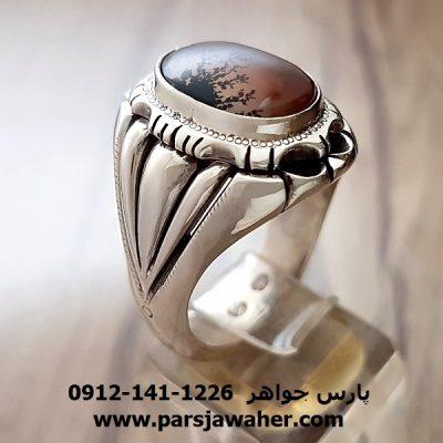 انگشتر مردانه شجر عقیق 202