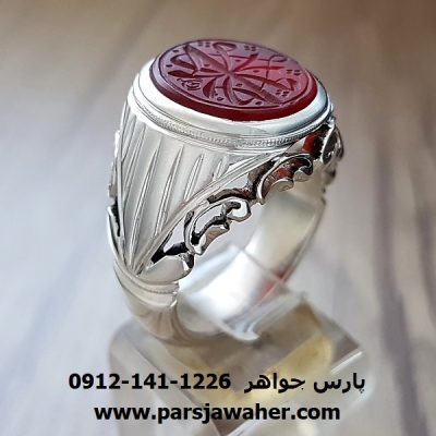 انگشتر نقره دست ساز مردانه 8375