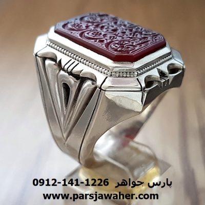 انگشتر مردانه خطی 8377