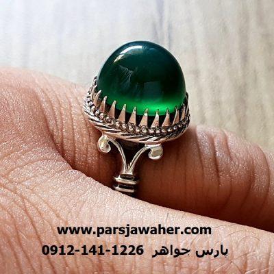 انگشتر عقیق سبز فدک طهران a223