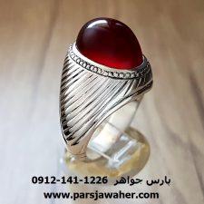 انگشتر عقیق سرخ یمنی رکاب نامی a224