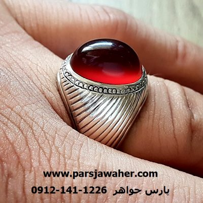 انگشتر عقیق سرخ یمنی آبدار a224