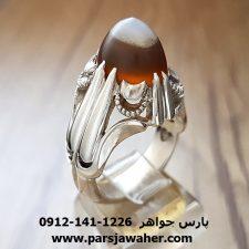 انگشتر عقیق دو پوست یمنی کریمی تهران a225