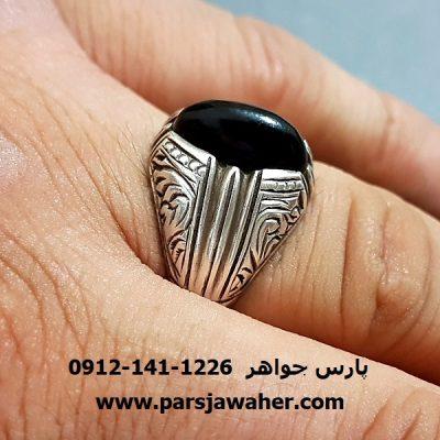 انگشتر رکاب قلم زنی ممی سعادت تبریزی f222