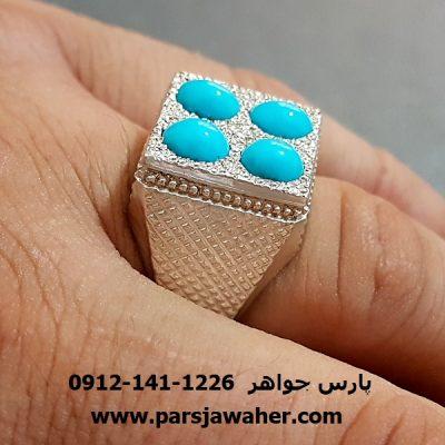 انگشتر نقره فیروزه نیشابور دست ساز 198