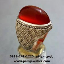 انگشتر فدیوم مردانه عقیق یمنی f227