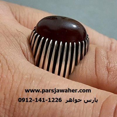 انگشتر فدیوم عقیق یمنی دست ساز f228