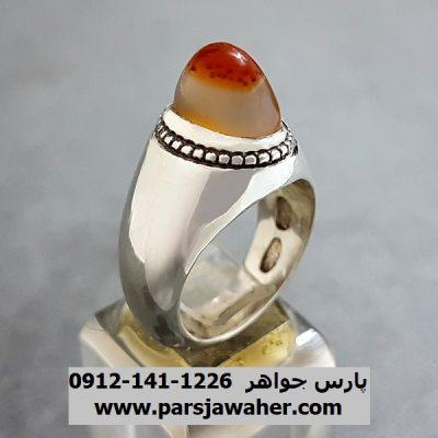 انگشتر عقیق دو پوست یمنی a236