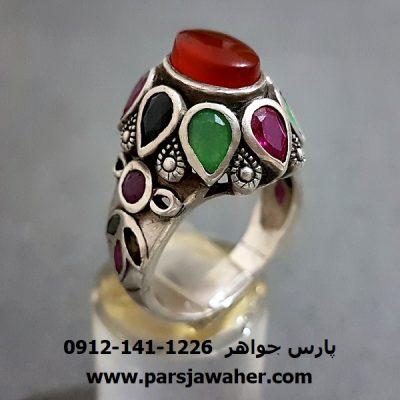 انگشتر جواهری عقیق یمنی a236