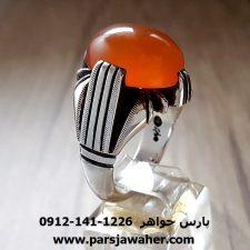 انگشتر مردانه عقیق یمنی نقره a238