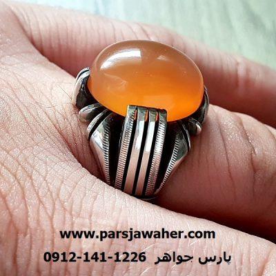 انگشتر مردانه عقیق یمنی دست ساز a238