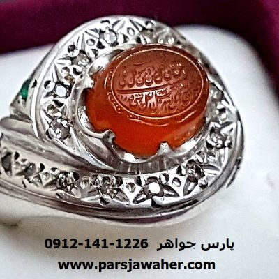انگشتر خط استاد سید عباس ضابطی f234