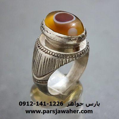 انگشتر عقیق باباقوری مردانه a252