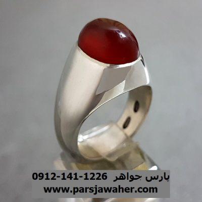 انگشتر عقیق سرخ یمنی اصل a254