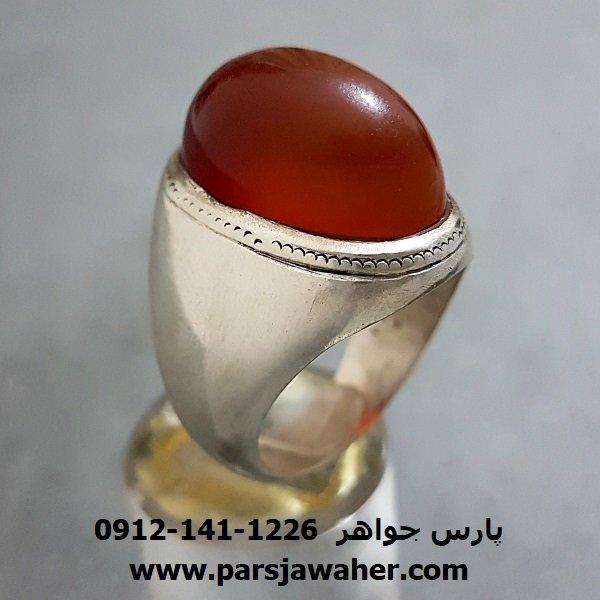 انگشتر قدیمی عقیق یمنی مردانه a257