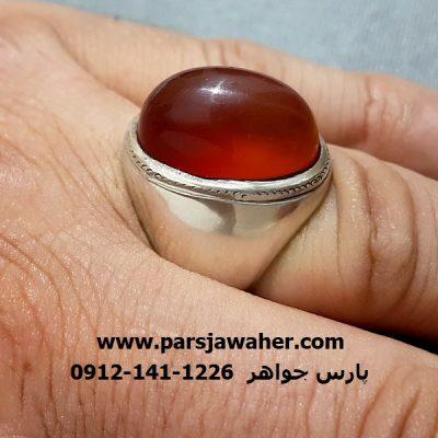 انگشتر قدیمی رکاب مردانه نقره دست ساز a257
