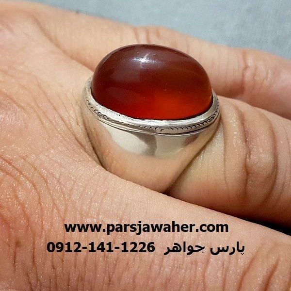 انگشتر قدیمی رکاب مردانه نقره a257