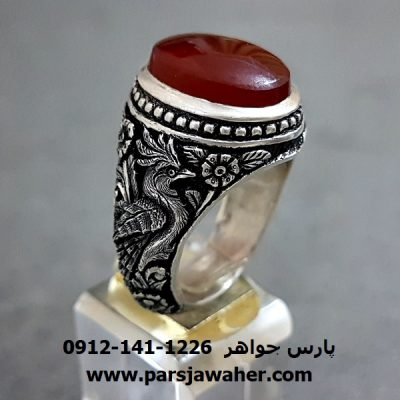 انگشتر عقیق یمنی نقره جنگی a260