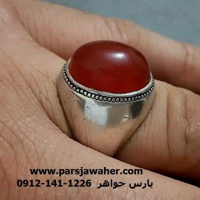 انگشتر قدیمی عقیق تراش قطعی یمنی a262