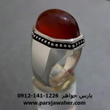 انگشتر عقیق سرخ یمنی اصل a265