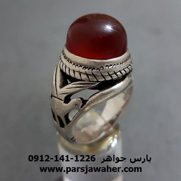 انگشتر مردانه نقره دست ساز قدیمی f265