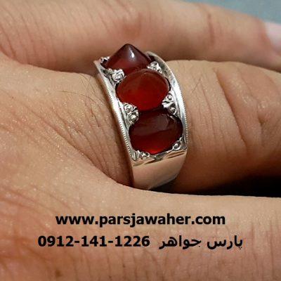 انگشتر رکاب دست ساز نقره a268