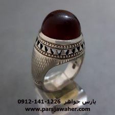 انگشتر فدیوم عقیق یمنی f267