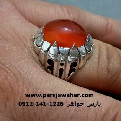 انگشتر نقره دست ساز شبکه a271