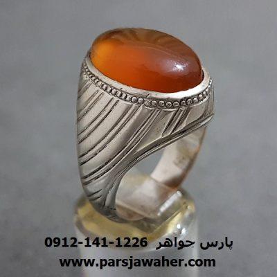 انگشتر عقیق یمن تراش قطعی a274