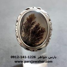 انگشتر شجر طبیعی مردانه نقره 205