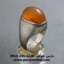 انگشتر قدیمی عقیق زرد یمنی a278