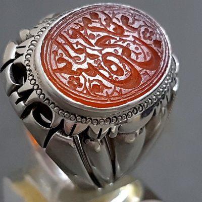 انگشتر مُهر قدیمی نقره 8349