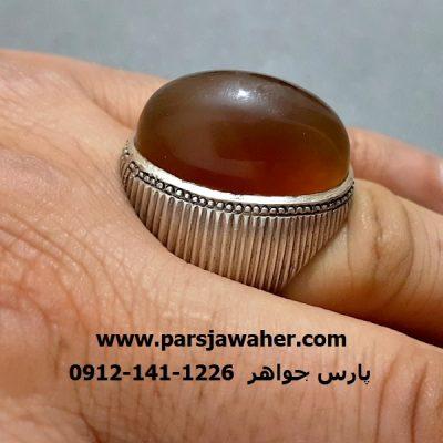 انگشتر مردانه رکاب نقره دست ساز a281