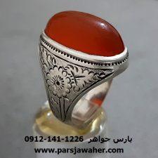 انگشتر عقیق تراش ثبتی یمنی قدیمی a282