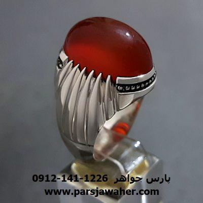 انگشتر عقیقِ سرخ یمنی a283