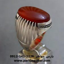انگشترِ مردانه عقیق یمنی a284
