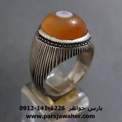 انگشتر نقره قدیمی عقیق a285