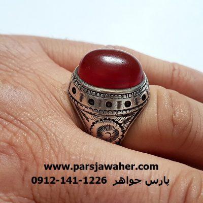 انگشتر قدیمی عقیق سرخ اصل یمن a287