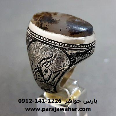 انگشتر قدیمی عقیق شجر 206
