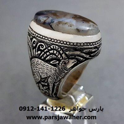 انگشتر قدیمی شجر قلم زنی 206