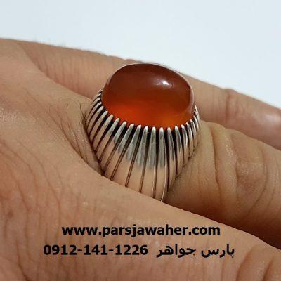 انگشتر مردانه رکاب نقره دست ساز f293